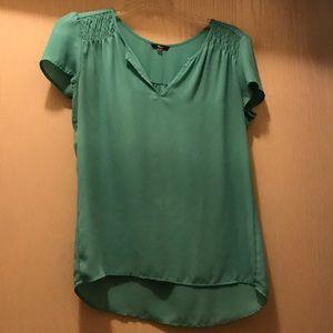 Sea Foam green shortsleeved green blouse
